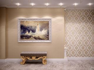 Студия интерьерного дизайна happy.design Classic style corridor, hallway and stairs