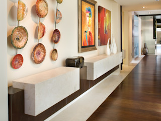 Lorna Gross Interior Design Modern Corridor, Hallway and Staircase
