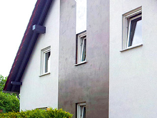 Fassadengestaltung als Putzfassade Volimea GmbH & Cie KG Moderne Häuser
