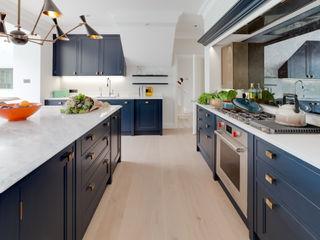 6 Bedroom Riverside Home Mark Taylor Design Ltd Klasik Mutfak Mavi