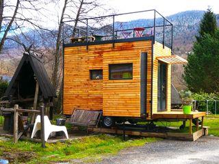 Jardin boheme Modernes Messe Design Holz