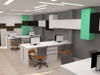 H2H arquitectos Oficinas y Tiendas Contrachapado Verde