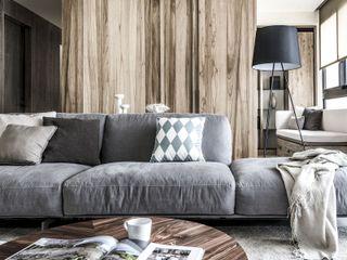 森.光景 Wood-Scape 理絲室內設計有限公司 Ris Interior Design Co., Ltd. 客廳沙發與扶手椅 Wood effect