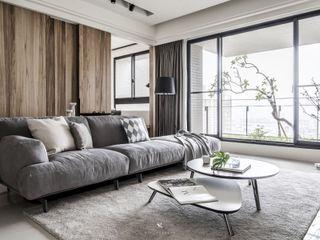 森.光景 Wood-Scape 理絲室內設計有限公司 Ris Interior Design Co., Ltd. 客廳 Wood effect