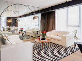NIVEL TRES ARQUITECTURA Modern living room White