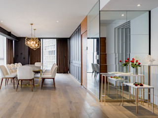 NIVEL TRES ARQUITECTURA Modern dining room Wood White