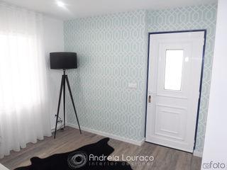 Andreia Louraço - Designer de Interiores (Email: andreialouraco@gmail.com) Pasillos, vestíbulos y escaleras de estilo moderno Azul