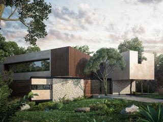 CARCO Arquitectura y Construccion 現代房屋設計點子、靈感 & 圖片 實木 Beige