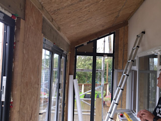 St Mawgan - SIPS Extension & Garden Box Building With Frames Modern Houses Wood