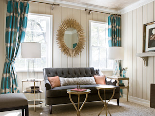 Lorna Gross Interior Design Modern living room Grey