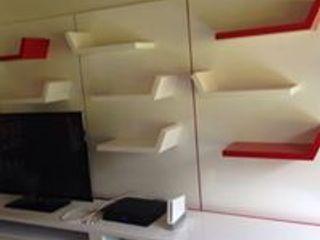 ARENO Diseño de espacios EstudioAlmacenamiento Aglomerado Blanco