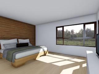 EjeSuR Arquitectura Country style bedroom