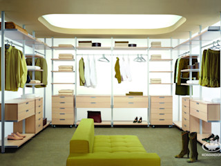 Komandor - Wnętrza z charakterem Dressing roomStorage Chipboard Wood effect