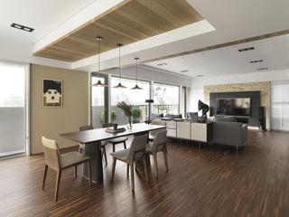 賀澤室內設計 HOZO_interior_design Comedores de estilo ecléctico
