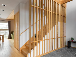 耀昀創意設計有限公司/Alfonso Ideas Pasillos, hall y escaleras de estilo asiático