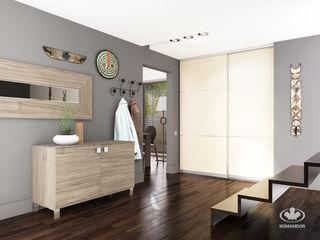 Komandor - Wnętrza z charakterem Corridor, hallway & stairs Clothes hooks & stands Chipboard Wood effect