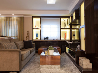 RK Arquitetura & Design Living roomAccessories & decoration Engineered Wood Multicolored