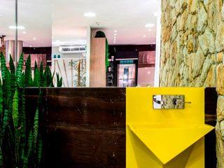RK Arquitetura & Design BathroomSinks Textile Yellow