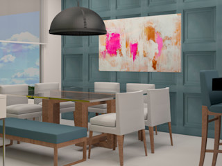 CONTRASTE INTERIOR Eclectic style dining room