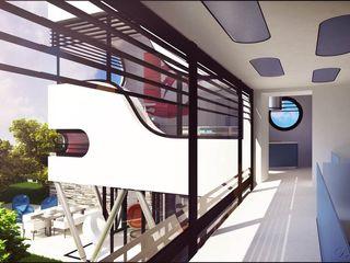 Ferrari Denis Confalonieri - Interiors & Architecture Ingresso, Corridoio & Scale in stile moderno