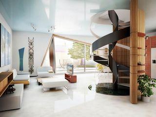 Soft Cube Denis Confalonieri - Interiors & Architecture Ingresso, Corridoio & Scale in stile moderno