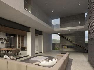 CASA A145 HAC Arquitectura Pasillos, vestíbulos y escaleras modernos Concreto