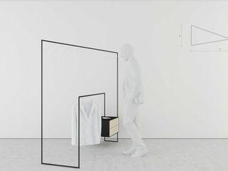 t design Vestidores y closetsAlmacenamiento Metal Negro