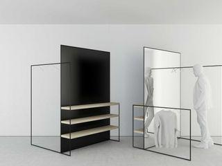 t design Vestidores y closetsEspejos Metal Negro