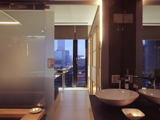 住宅(場域 ●界定) 鼎爵室內裝修設計工程有限公司 浴室 大理石 Black
