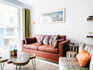Nature-Inspired Apartment Katie Malik Interiors Modern living room