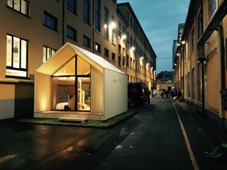 Microarch Smarthome   #fuorisalone Milano MODOM srl Case in stile scandinavo Legno