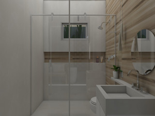 UNUM - ARQUITETURA E ENGENHARIA Country style bathroom