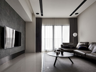 迷迭.灰 Planes of Greyscale 理絲室內設計有限公司 Ris Interior Design Co., Ltd. 现代客厅設計點子、靈感 & 圖片 Grey