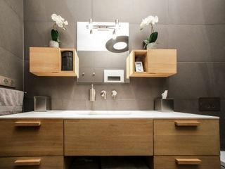Agencement et aménagement d'une salle de douche Myriam Wozniak Architecture et décoration Salle de bain minimaliste