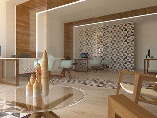 Hipercubo Arquitectura Kantor & Toko Gaya Skandinavia Batu White