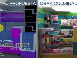 Proyecto de Diseño y Remodelación de Espacios Comerciales Constructora NRC ARCHITECT C.A. Oficinas de estilo moderno