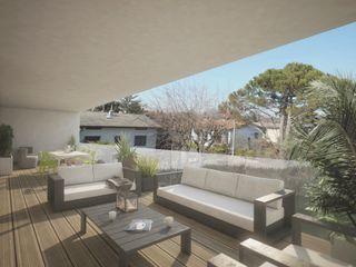 HOUSE UP Ivan Rivoltella Balcone, Veranda & Terrazza in stile moderno