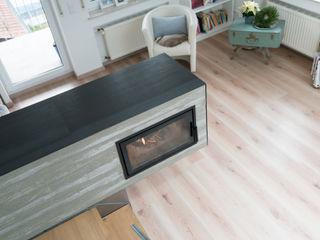 .kii4   kiimoto Kaminofen mit Verkleidung in Holzoptik kiimoto kamine WohnzimmerKamin und Zubehör Beton Beige
