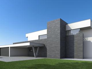 Villa Ledlweg Fichtner Gruber Architekten Minimalistische Häuser
