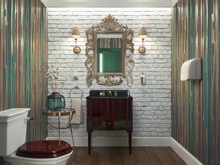 Restroom design KAPRANDESIGN Ванная комнатаАксессуары Зеленый