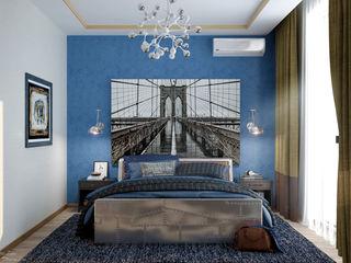 Студия интерьерного дизайна happy.design Industrial style bedroom