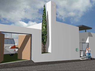 Home Solution & Design Casas minimalistas Concreto Branco