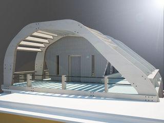 ibedi laboratorio di architettura Modern Terrace Wood Blue