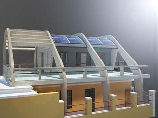 ibedi laboratorio di architettura Modern Terrace Wood Yellow