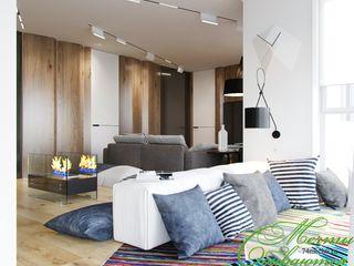 Компания архитекторов Латышевых 'Мечты сбываются' Salas de estar minimalistas
