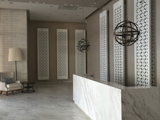 Ecologik Modern corridor, hallway & stairs Marble White