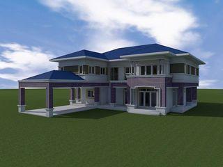รับเขียนแบบ ออกแบบบ้าน ภาพ3D