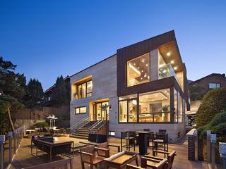 (주)건축사사무소 모도건축 Rumah Modern Marmer Beige