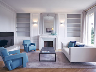 Anne Lapointe Chila Modern Living Room Concrete White