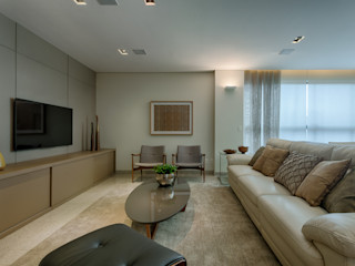 Renata Basques Arquitetura e Design de Interiores Modern Living Room